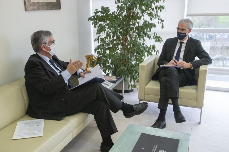 Presidente de la CEG y Conselleiro de Economía de la Xunta de Galicia